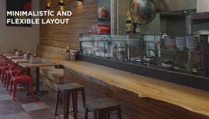 minimalistic and flexible layout